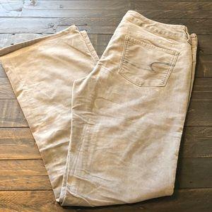 American Eagle corduroy gray pants